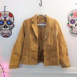 Natural Leather Rave Jacket